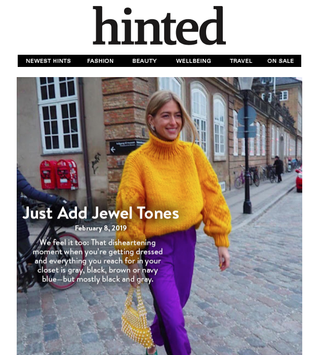 Hinted: Just Add Jewel Tones - February 8, 2019
