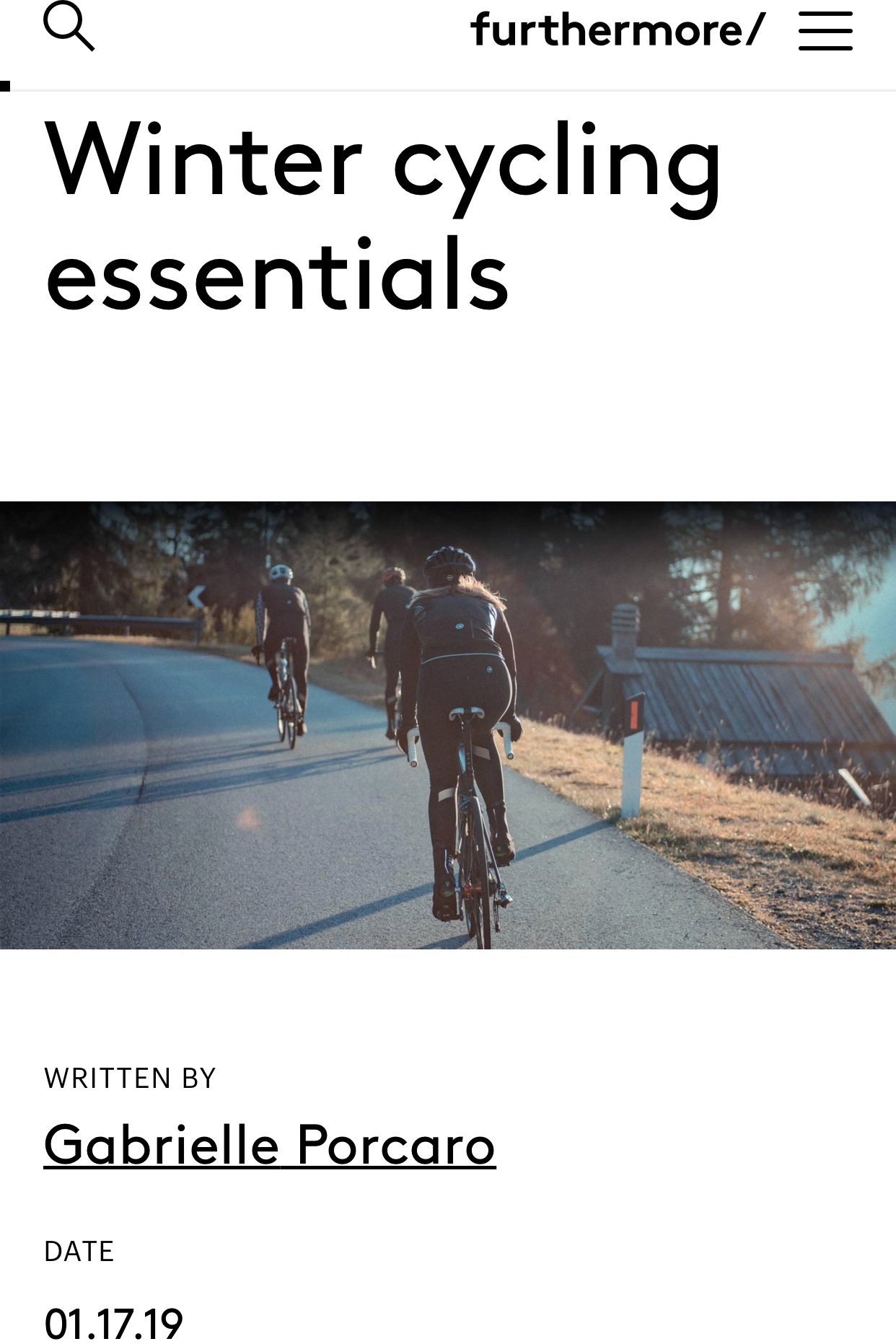 Furthermore: Winter Cycling Essentials - January 17, 2019