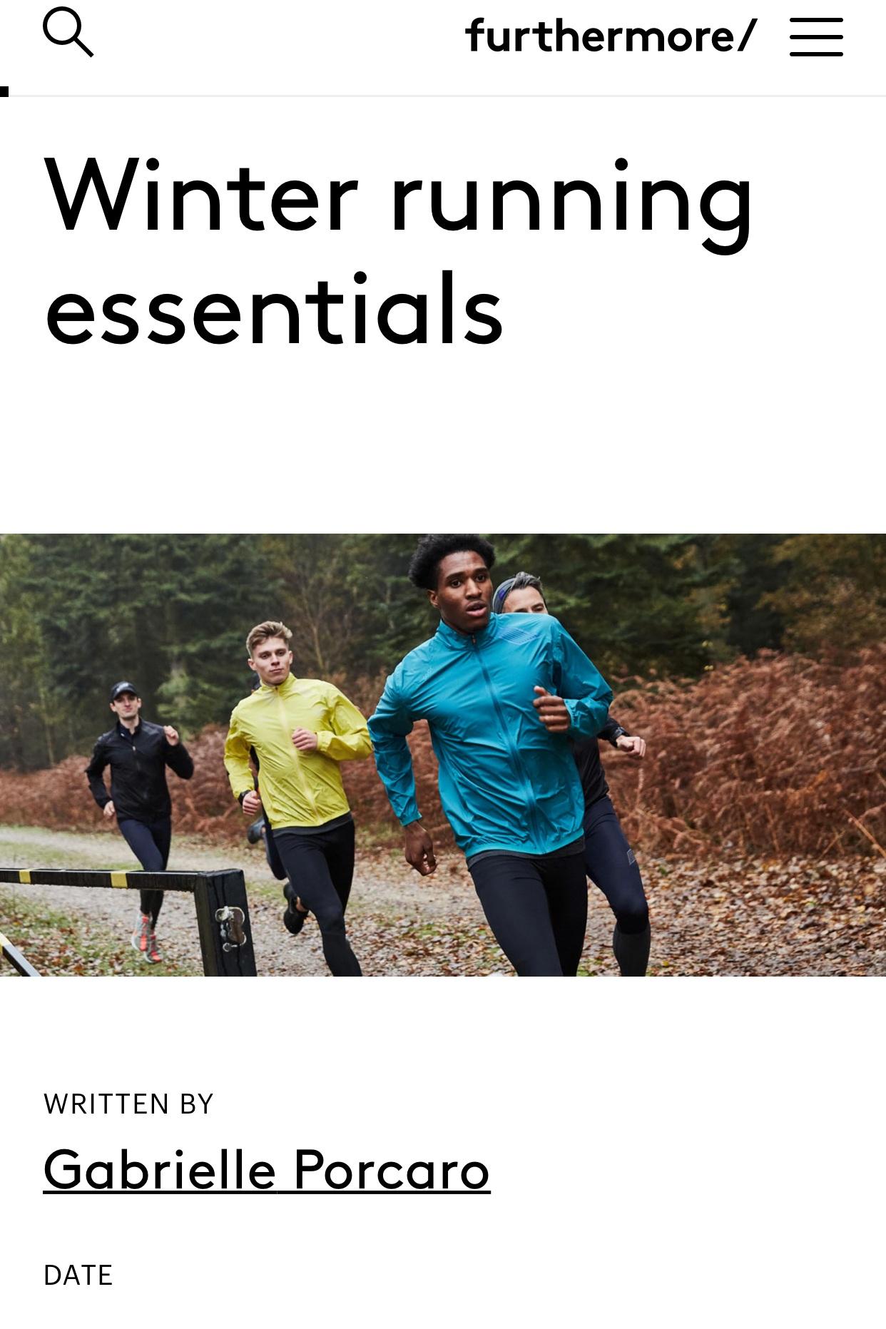 Furthermore: Winter Running Essentials - January 25, 2019