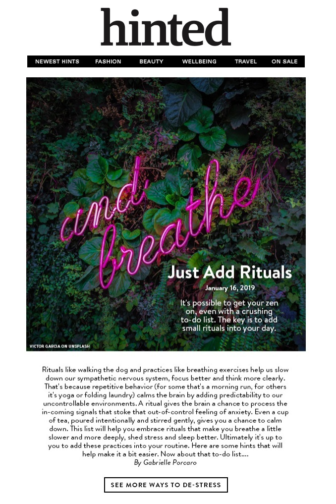 Hinted: Just Add Rituals - January 16, 2019