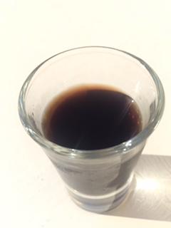 My daily mineral shot...pretty palatable, everything tastes good at Amchara