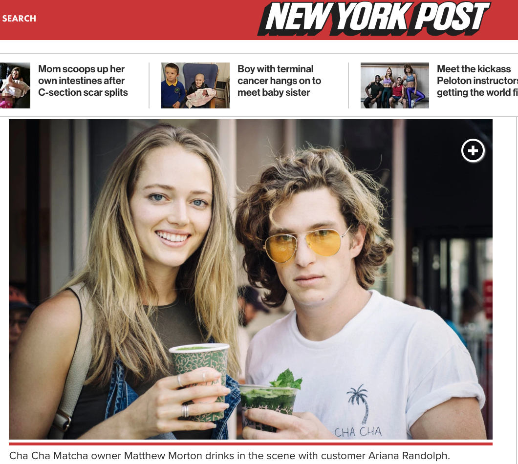 New York Post - The must-have beverage of Victoria's Secret models