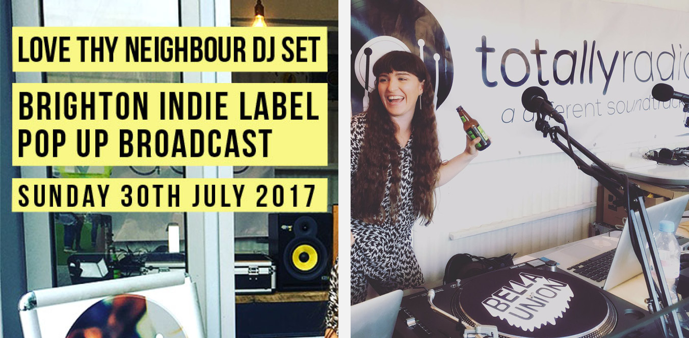 TOTALLY RADIO  - DJ SET  Abi Wade presented for Totally Radio's Brighton Indie Label Pop Up Broadcast; on behalf of Love Thy Neighbour Records, recorded live from YO! in Brighton on Sunday 30th July 2017. Abi Wade has released records on the Love Thy Neighbour label, with more material coming out soon. Her set celebrates the female voice with a weekly Spotify Playlist and more Radio Shows coming soon.   Episode   Spotify Playlist