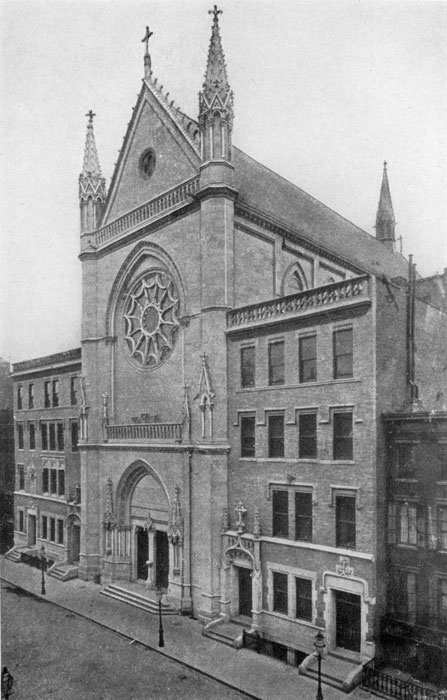 """The """"new Saint Mary's"""" church in 1896"""