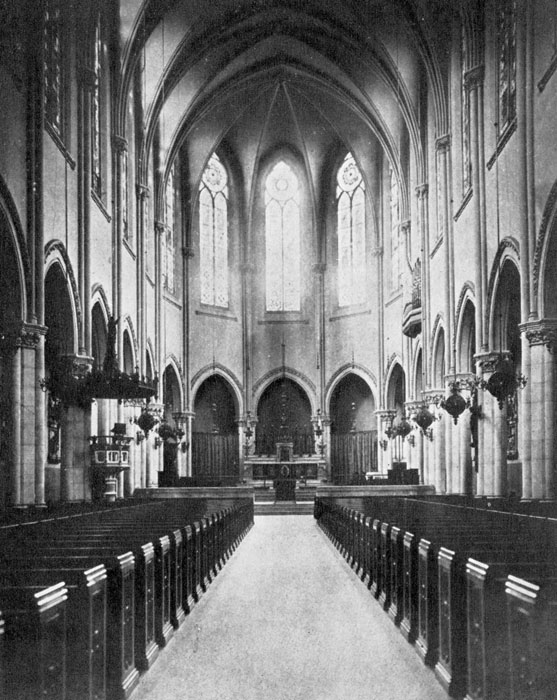 The Nave of Saint Mary's in the 1890s.
