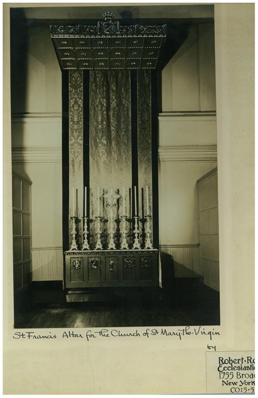 The Altar in Saint Joseph's Hall.