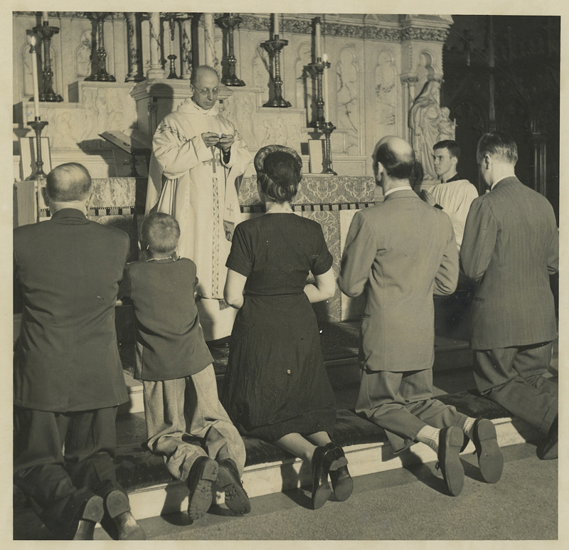 Communion at Saint Mary's in the 1950s in the Lady Chapel