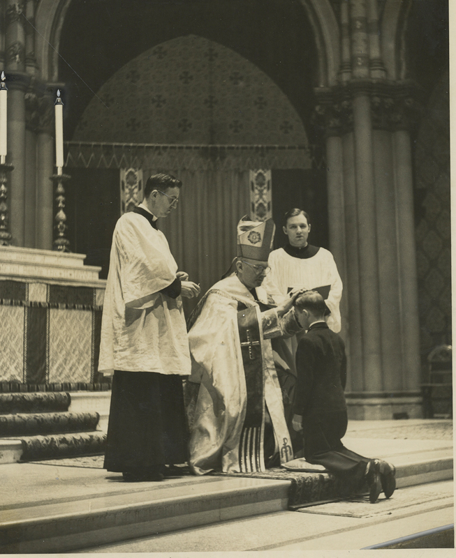 Confirmation at Saint Mary's in the 1950s