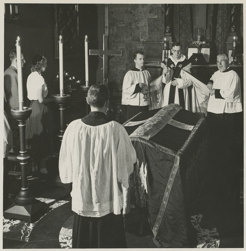 Funeral in the Chapel of Our Lady of Mercy in the 1950s