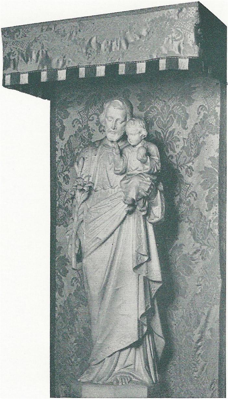 Statue in Saint Joseph's Chapel, Saint Mary's, 1950s
