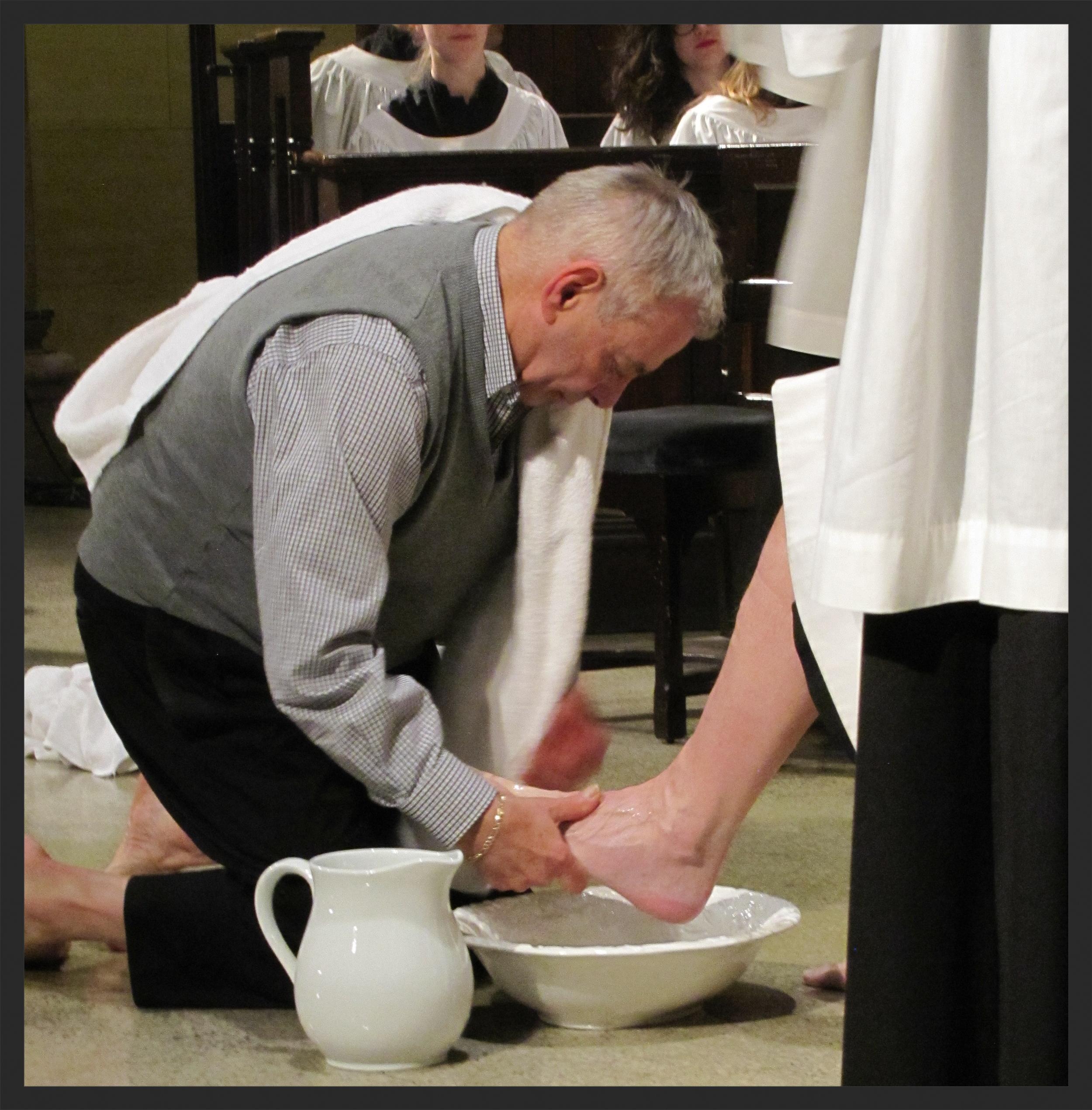 Foot Washing on Maundy Thursday at Saint Mary's