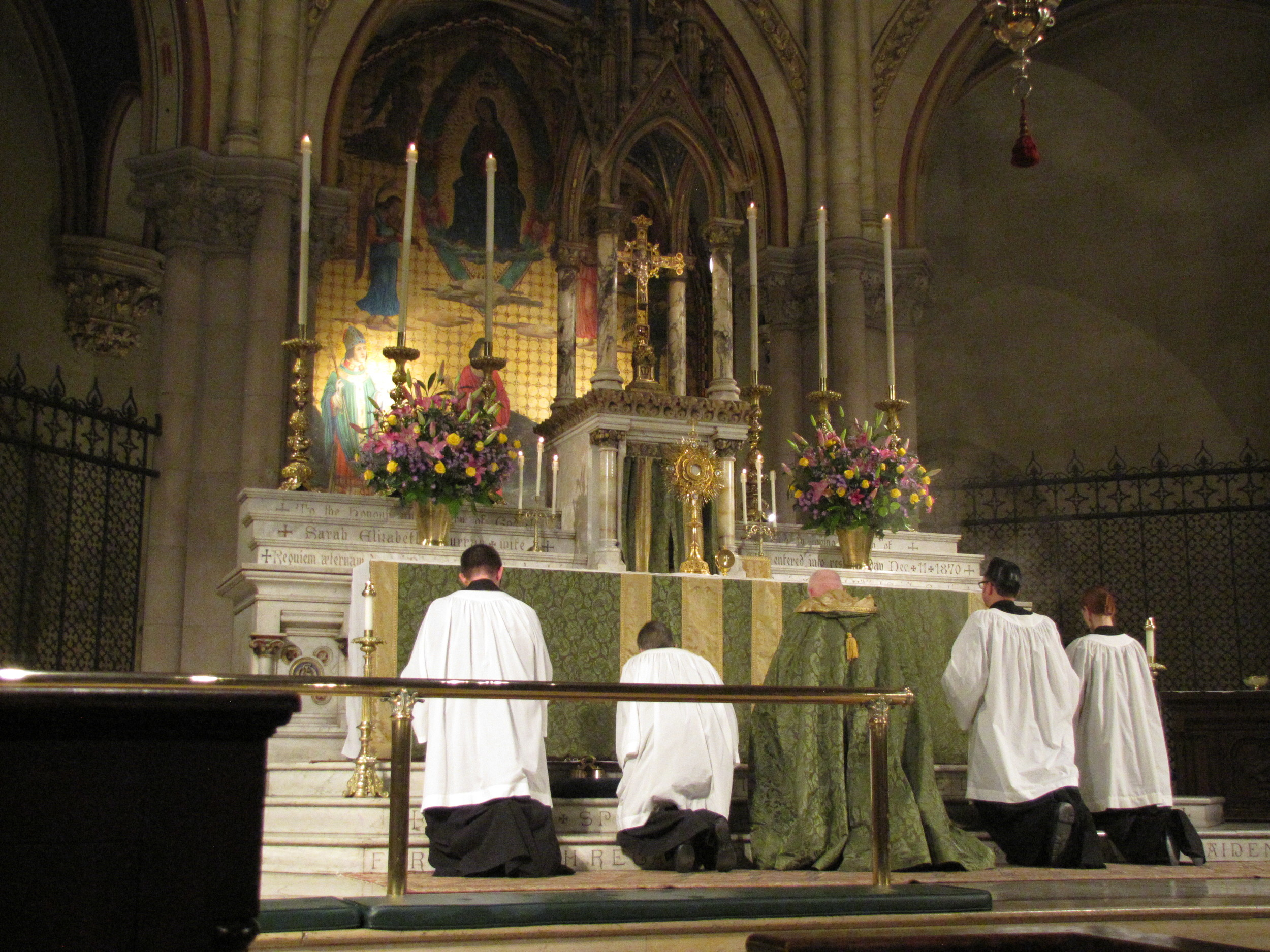 Benediction of the Blessed Sacrament at Saint Mary's