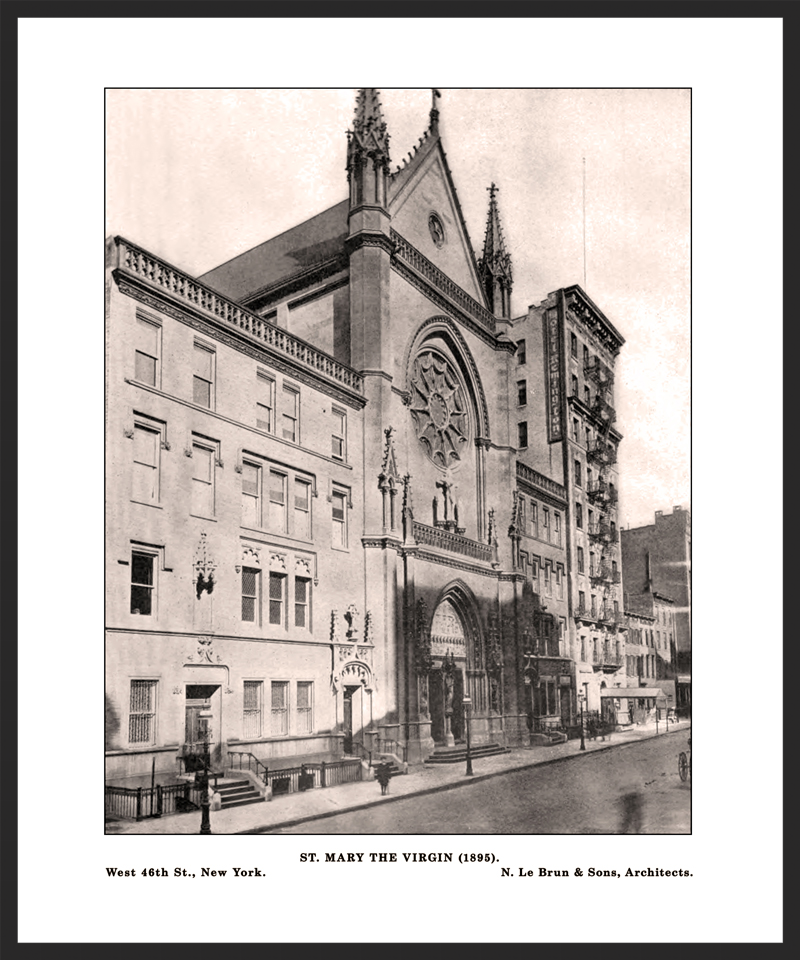 The Church of Saint Mary the Virgin in 1896