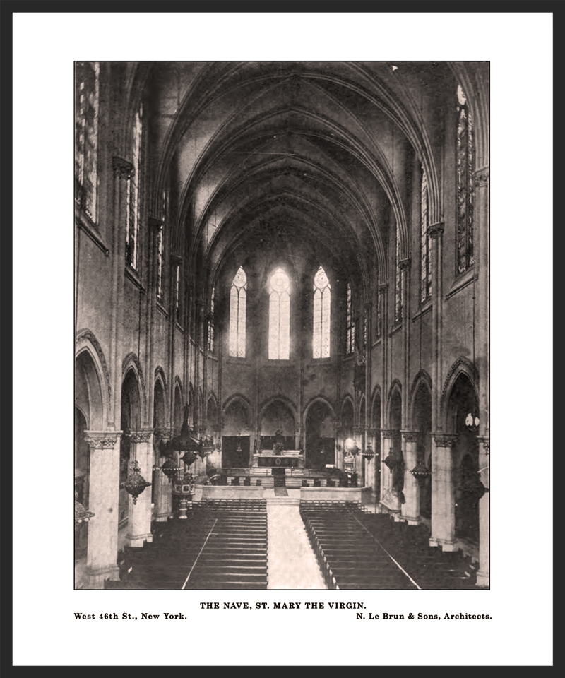 The interior of Saint Mary's in the 1890s