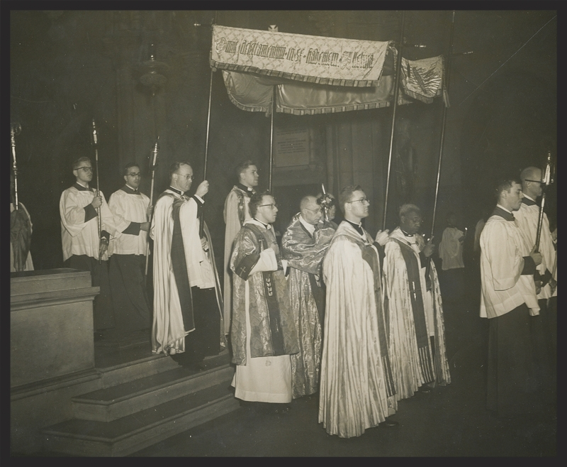 A Processional at Saint Mary's in the early 1950s