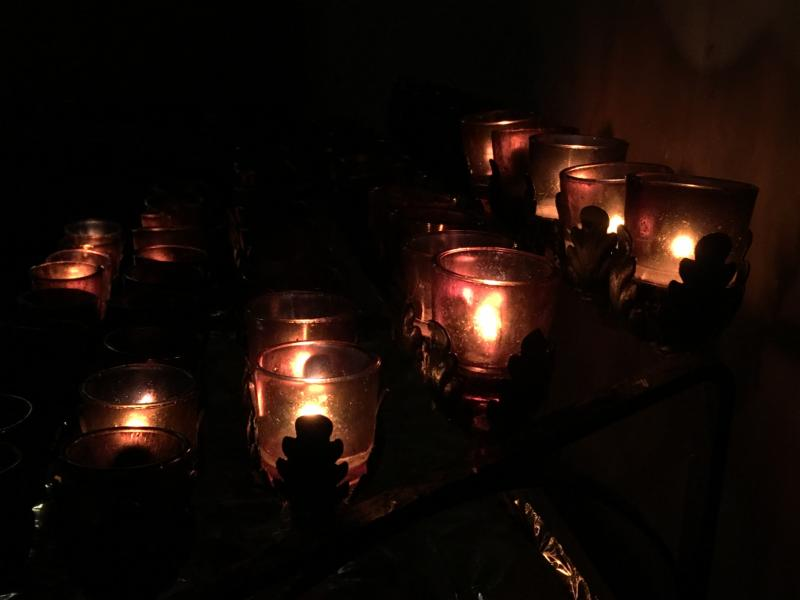 Votives in the Chapel of Our Lady of Mercy