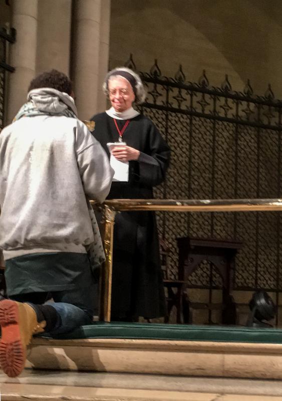 Sister Laura Katharine at Noonday Mass.