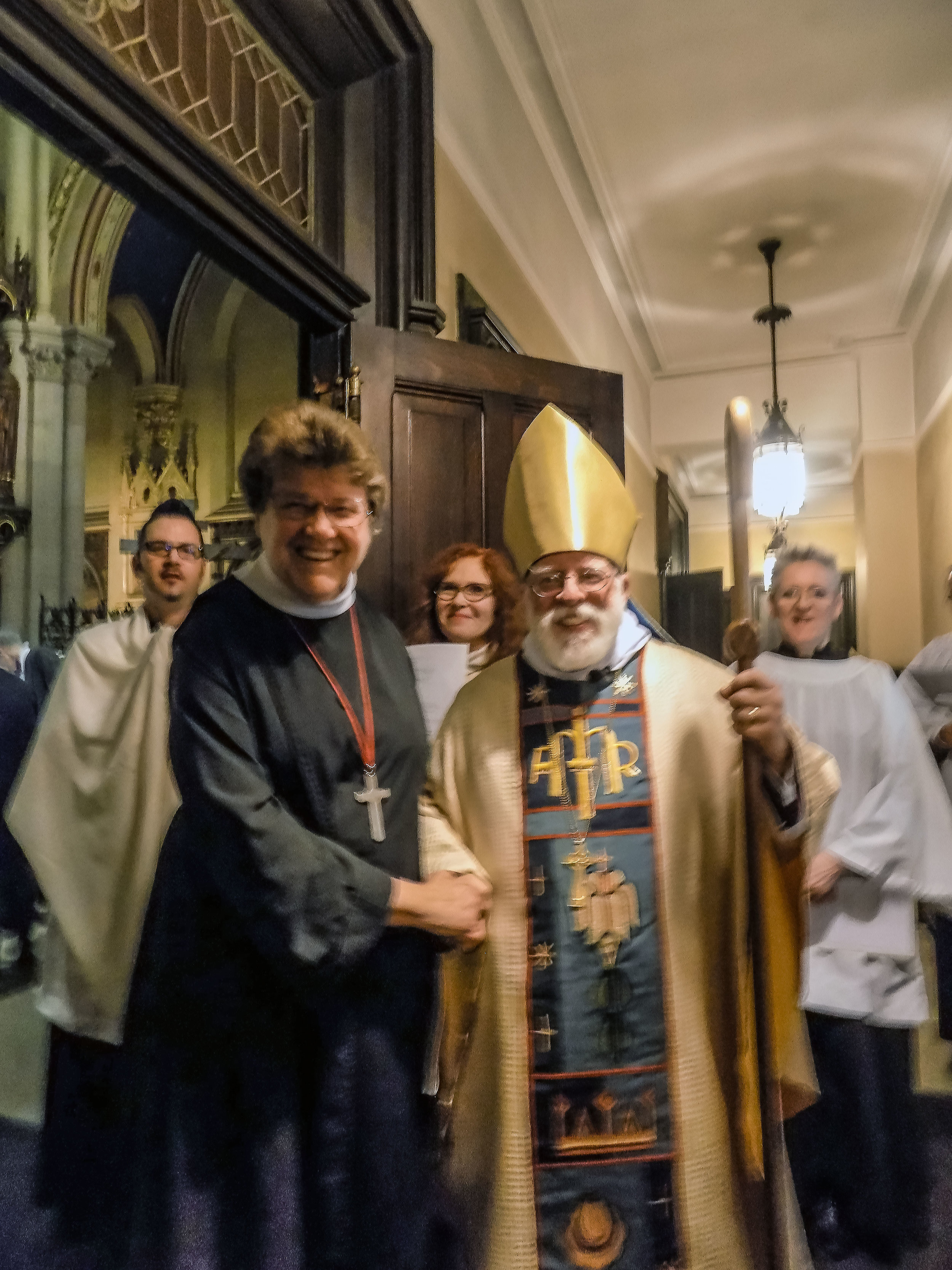 Sr. Eleanor Francis and Bishop Dietsche