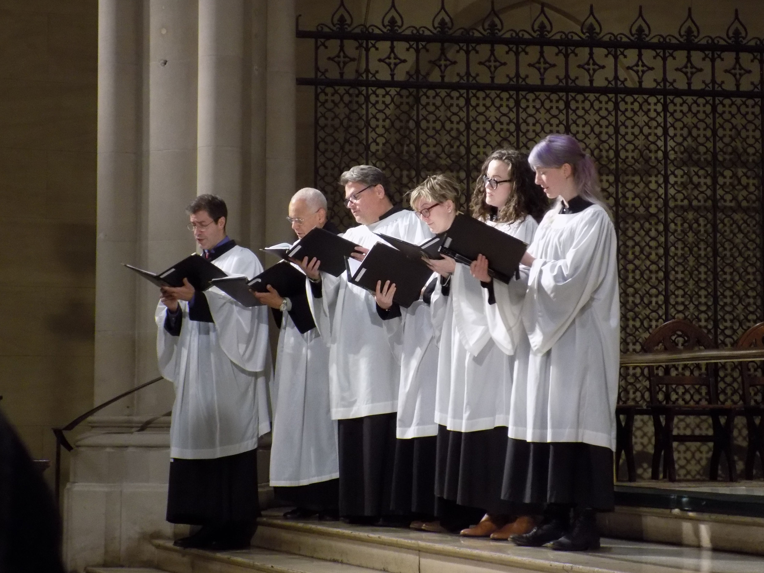 Members of the Parish Choir sang the canticles and a motet at Solemn Evensong on the Eve of the Patronal Feast