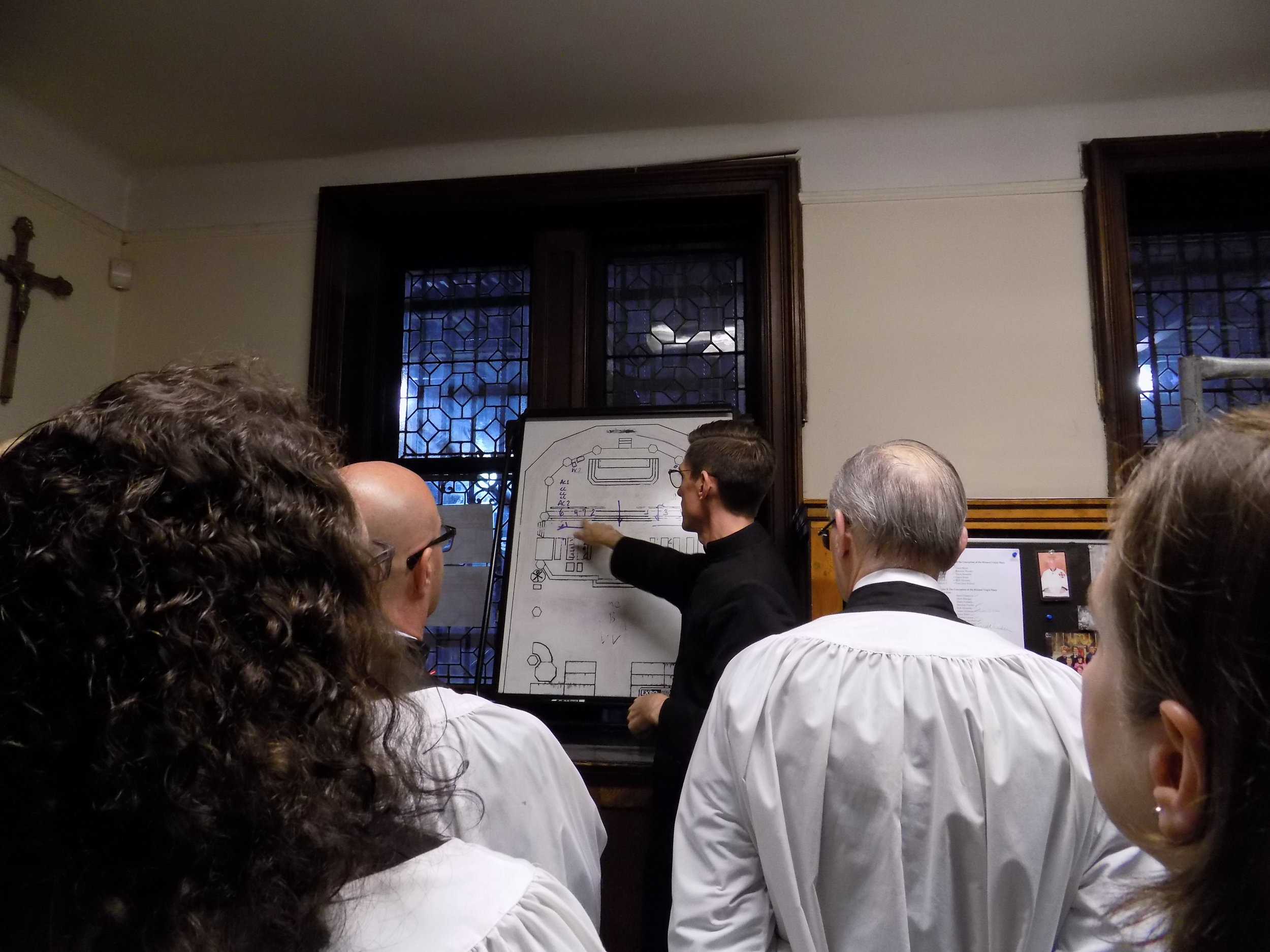 In the Sacristy before Mass