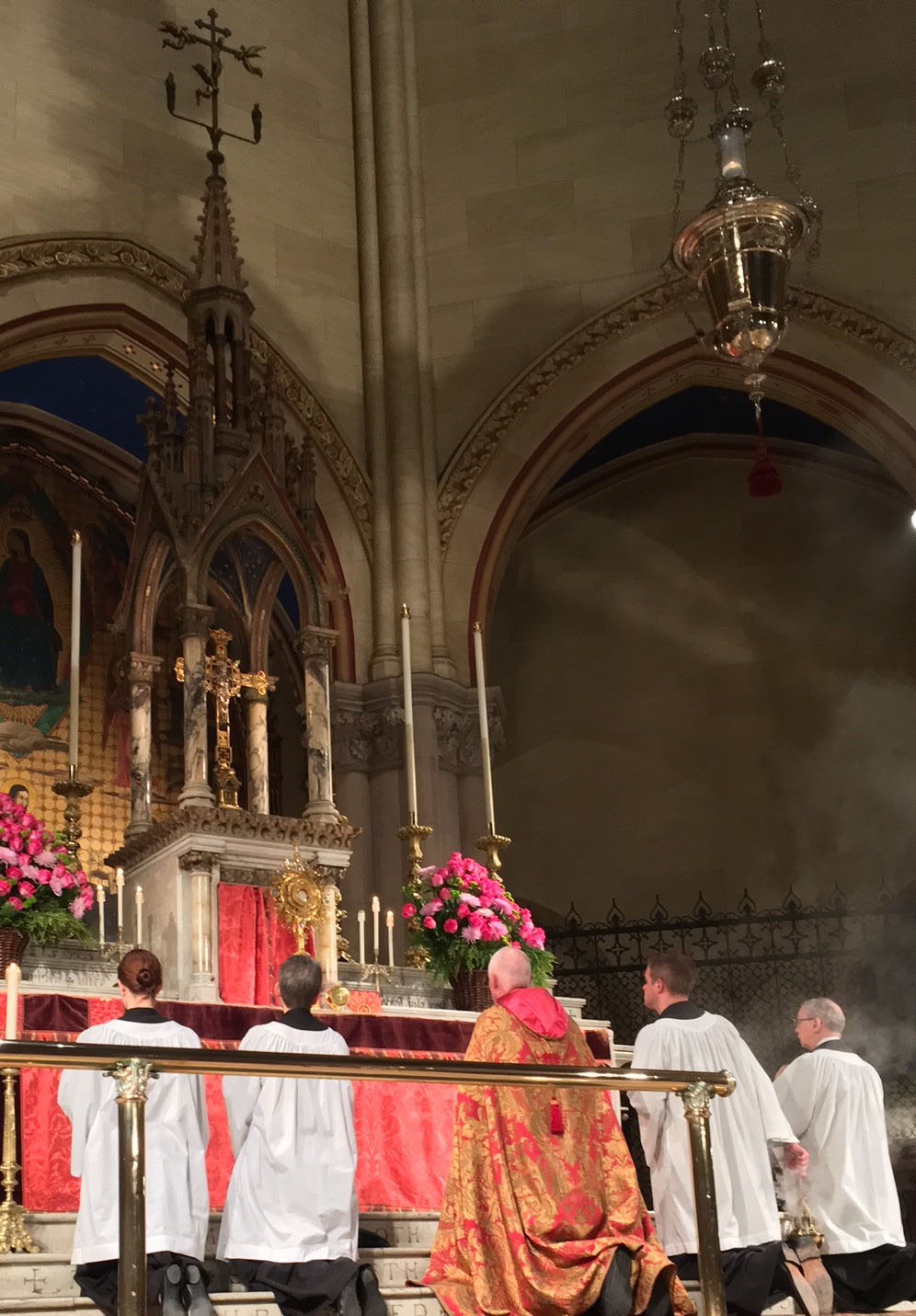 Eucharistic Adoration during Benediction of the Blessed Sacrament