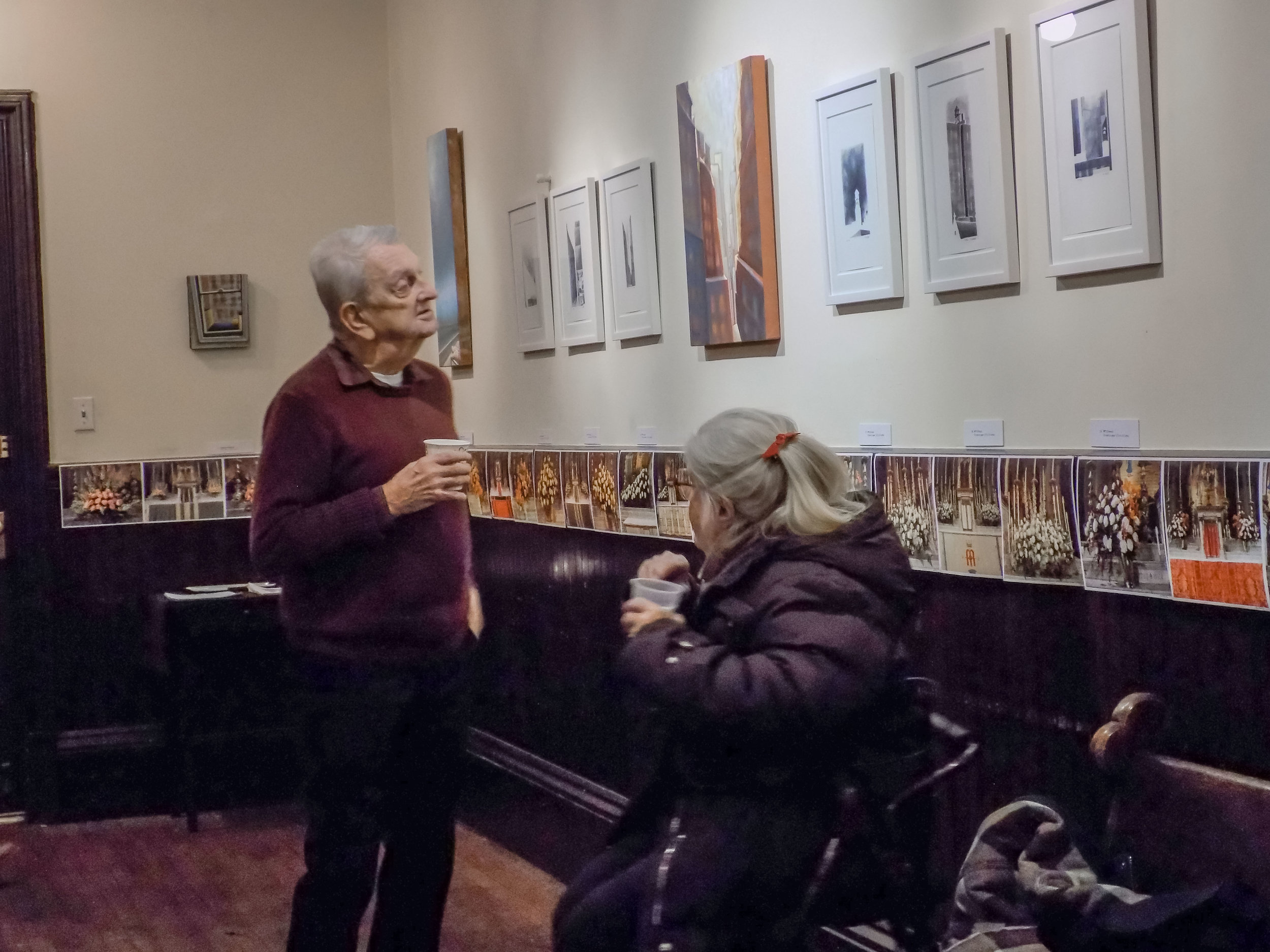 Dick Leitsch and Margaret Malone at Coffee Hour