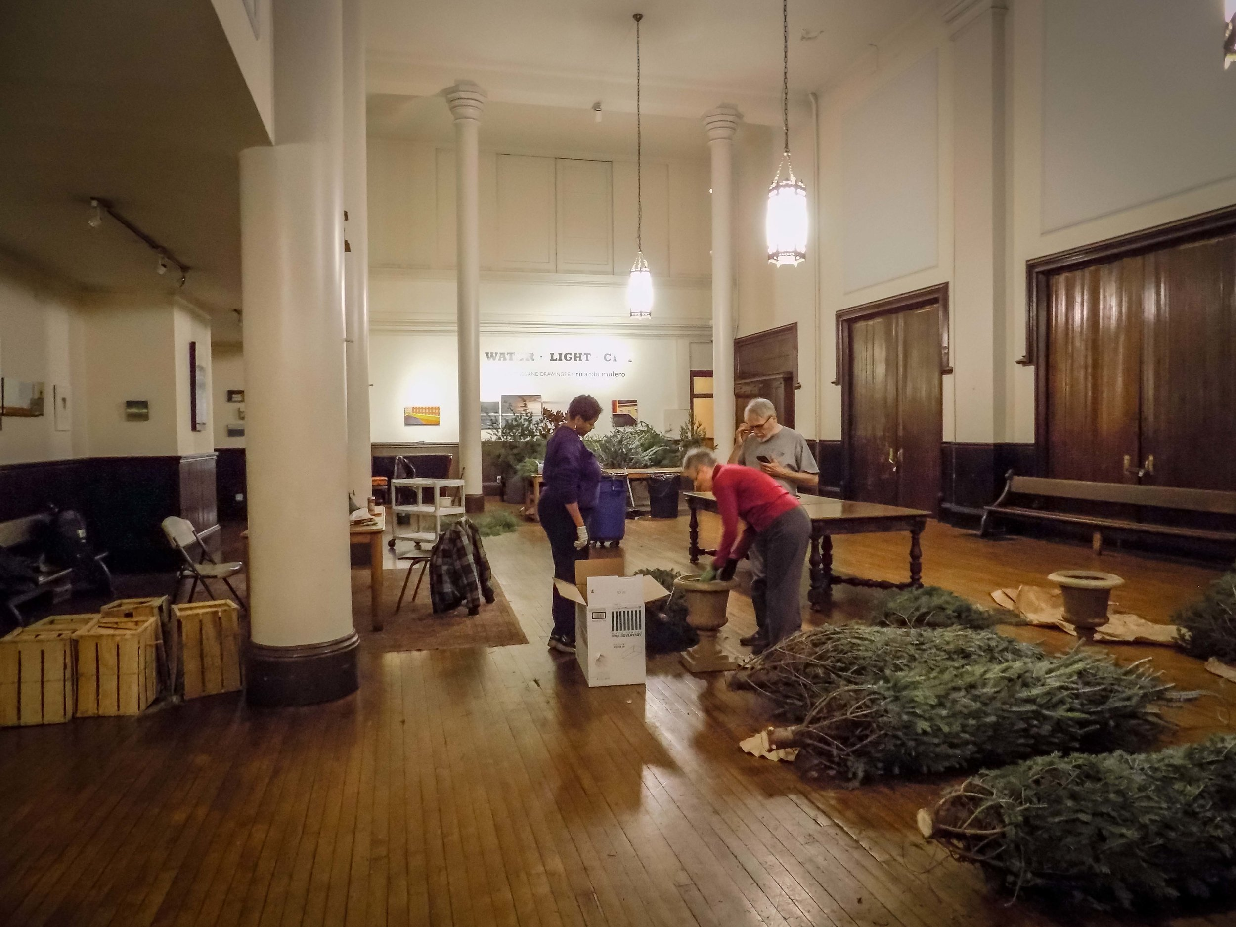 Christmas greens were delivered on Monday, December 19.