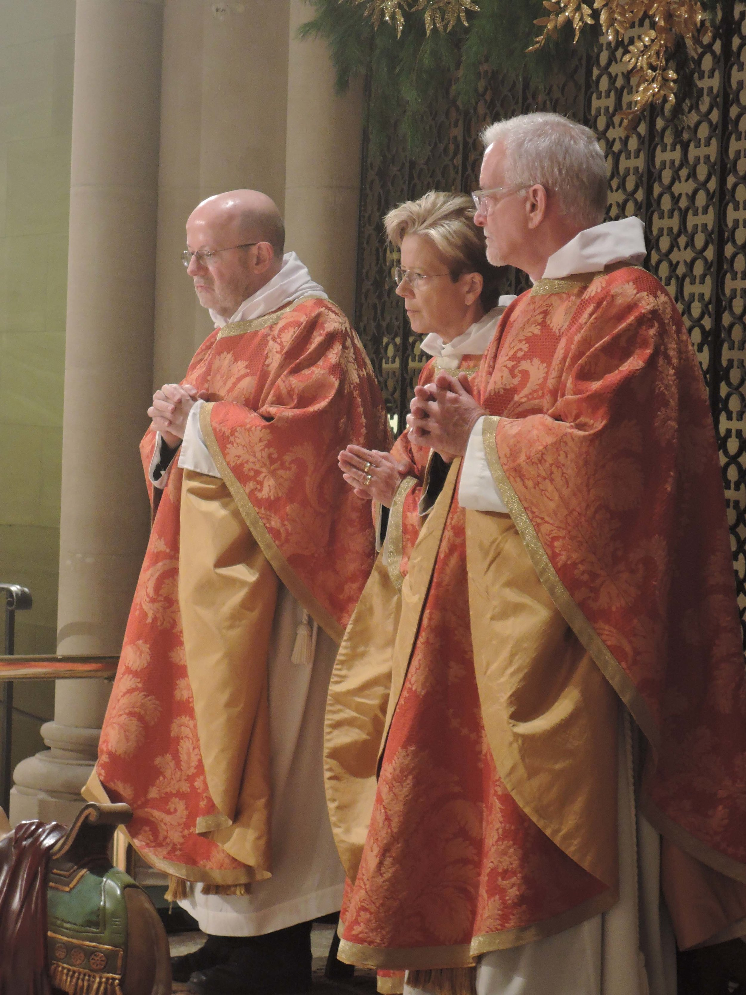 Father Smith, Mother DeChamplain, and Father Pace at the Sung Mass on Christmas Eve