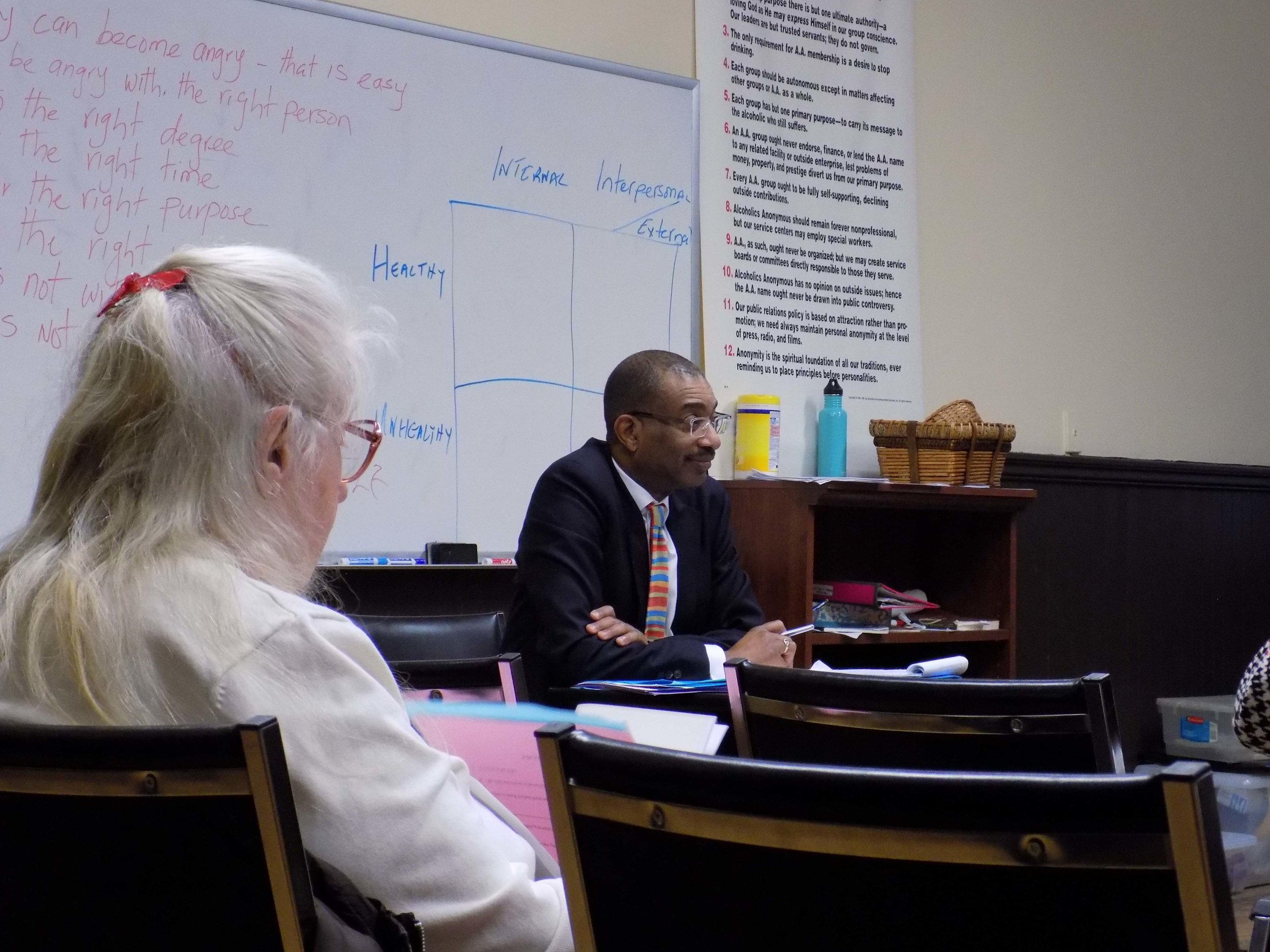 Dr. Charles Morgan leading the Adult Forum on January 22, 2017.