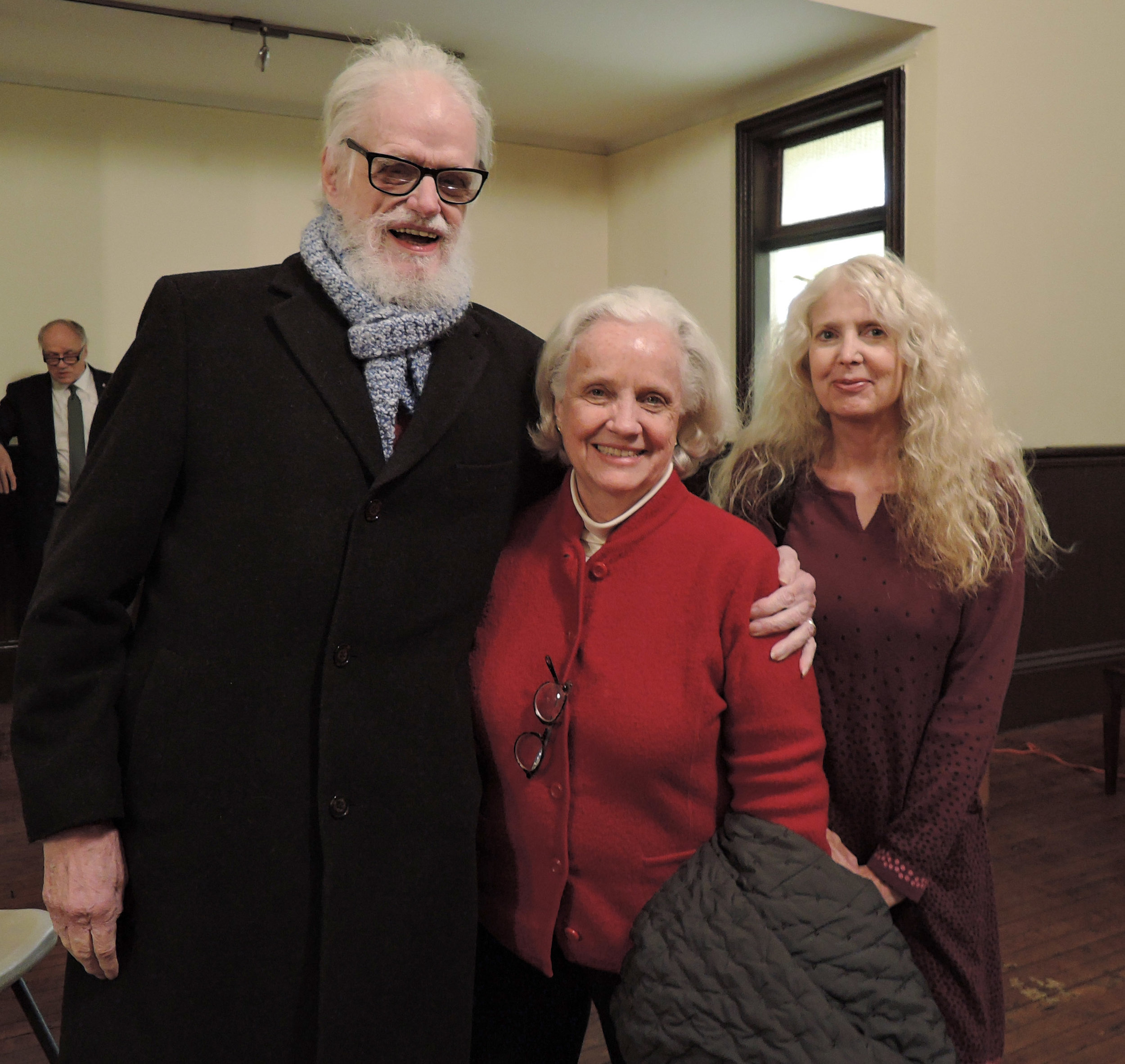 Parishioners Hardy Geer and Julie Gillis,   and a guest