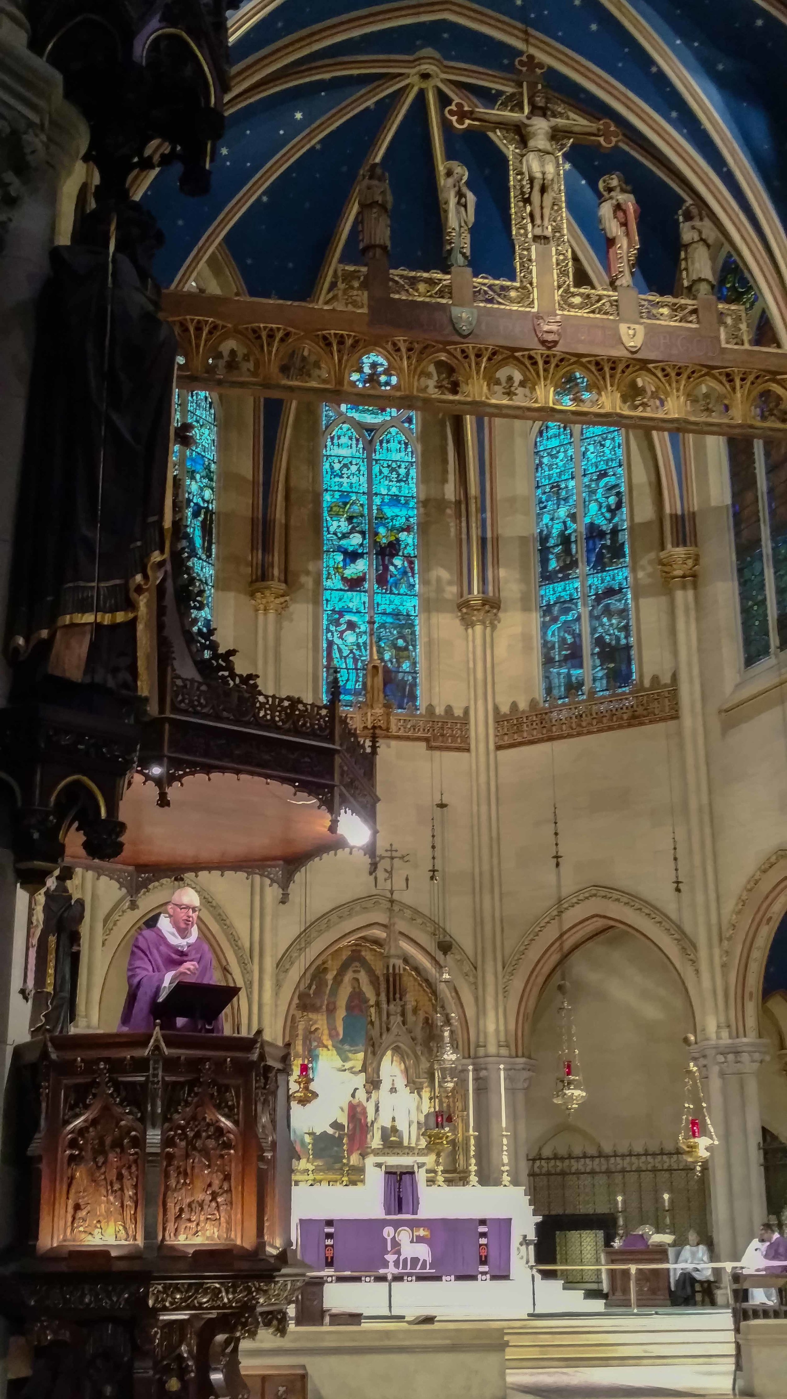 The Rector was celebrant and preacher on the First Sunday in Lent.