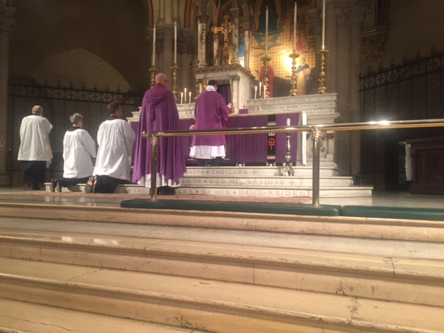 The deacon assists at Solemn Evensong & Benediction.