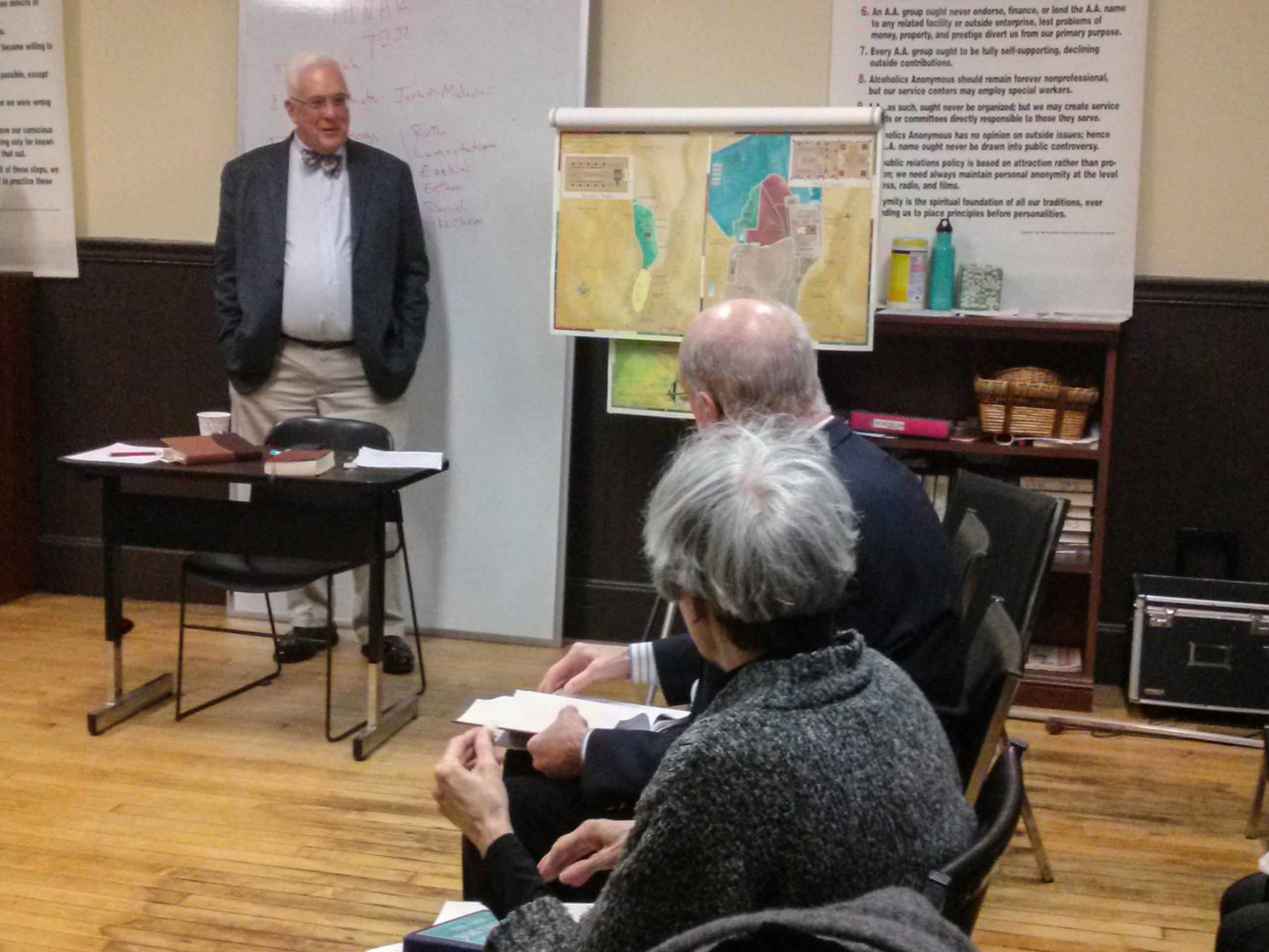 Father Pete Powell leading the Adult Forum on Sunday, March 5, 2017.