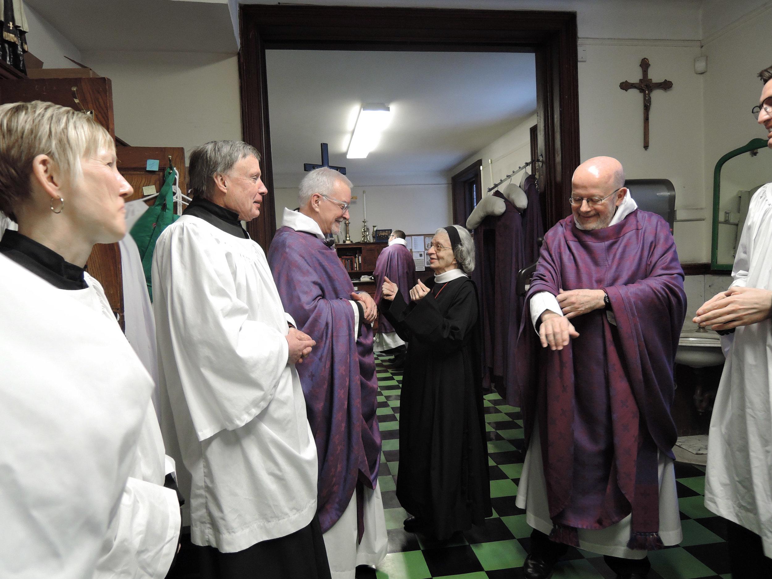 Before Solemn Mass last Sunday.
