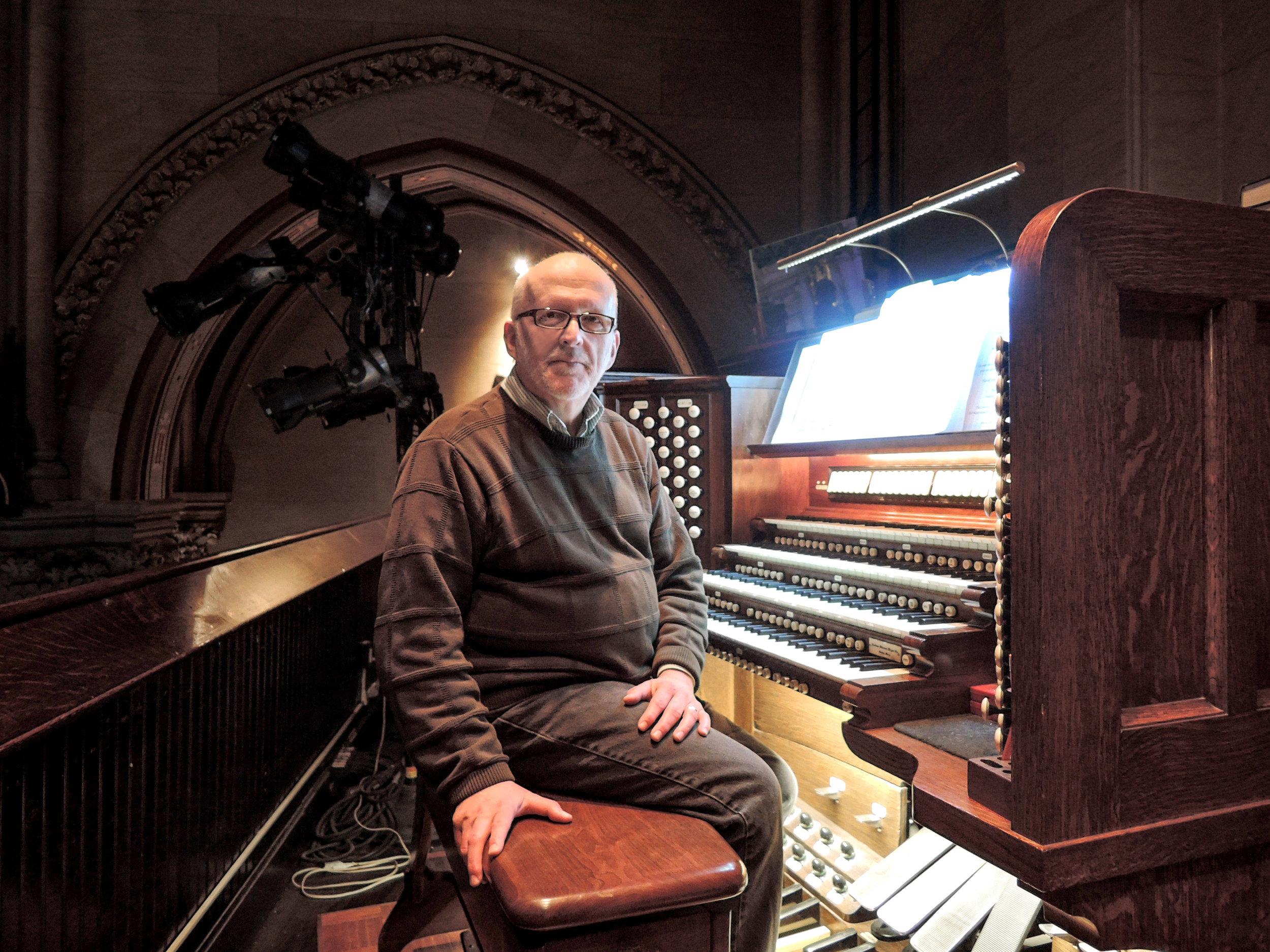 At Practice: Richard Robertson, Denver, Colorado, Annunciation Eve recitalist