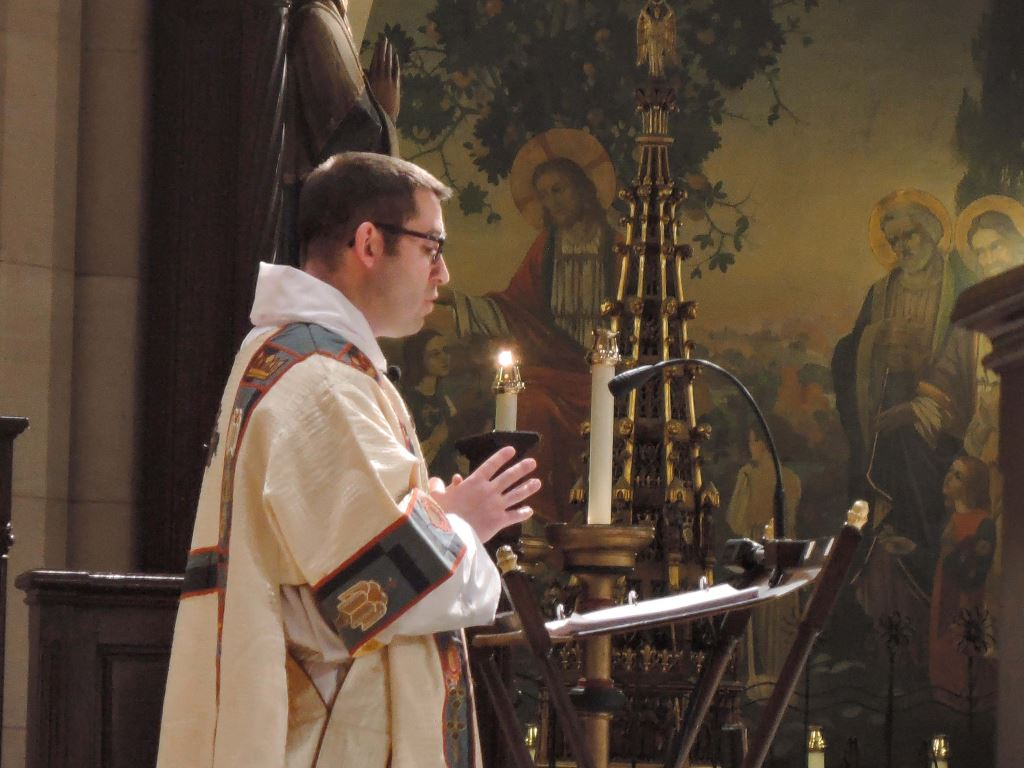 Deacon Matt Jacobson led the Prayers of the People.