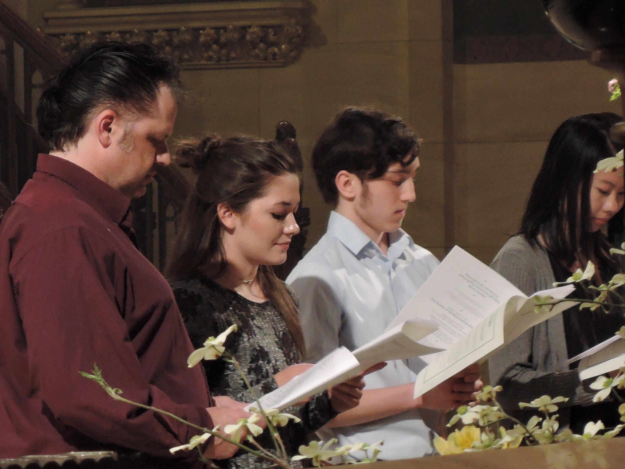 Jordan Tamelcoff and Rami Eskelin presented for Baptism