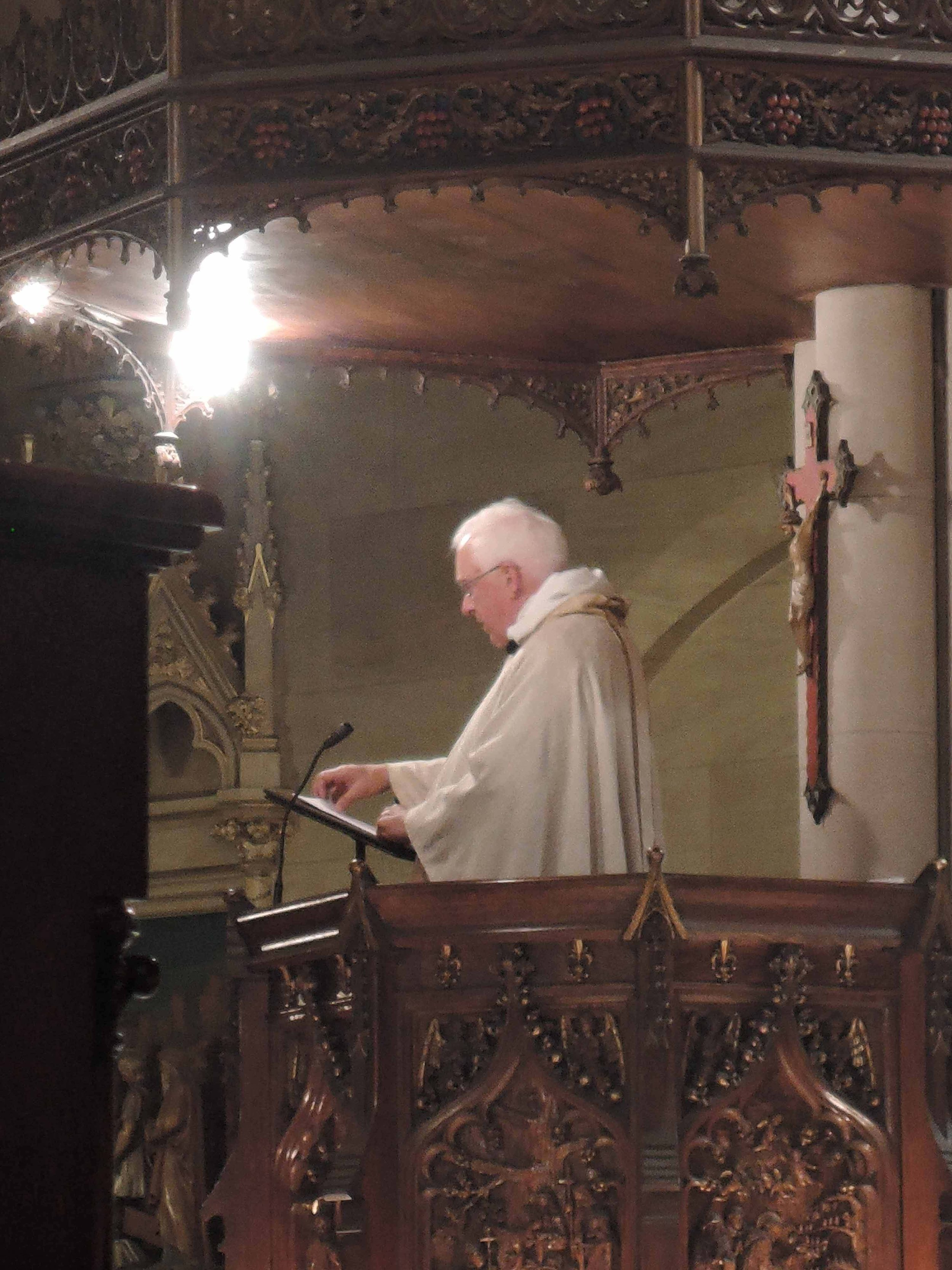 Father Pete Powell was celebrant and preacher on the Fourth Sunday of Easter.