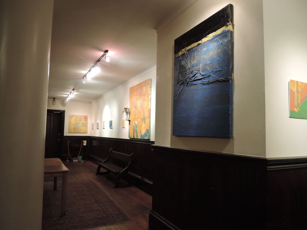Works by Carlos Arteaga in the Gallery in Saint Joseph's Hall