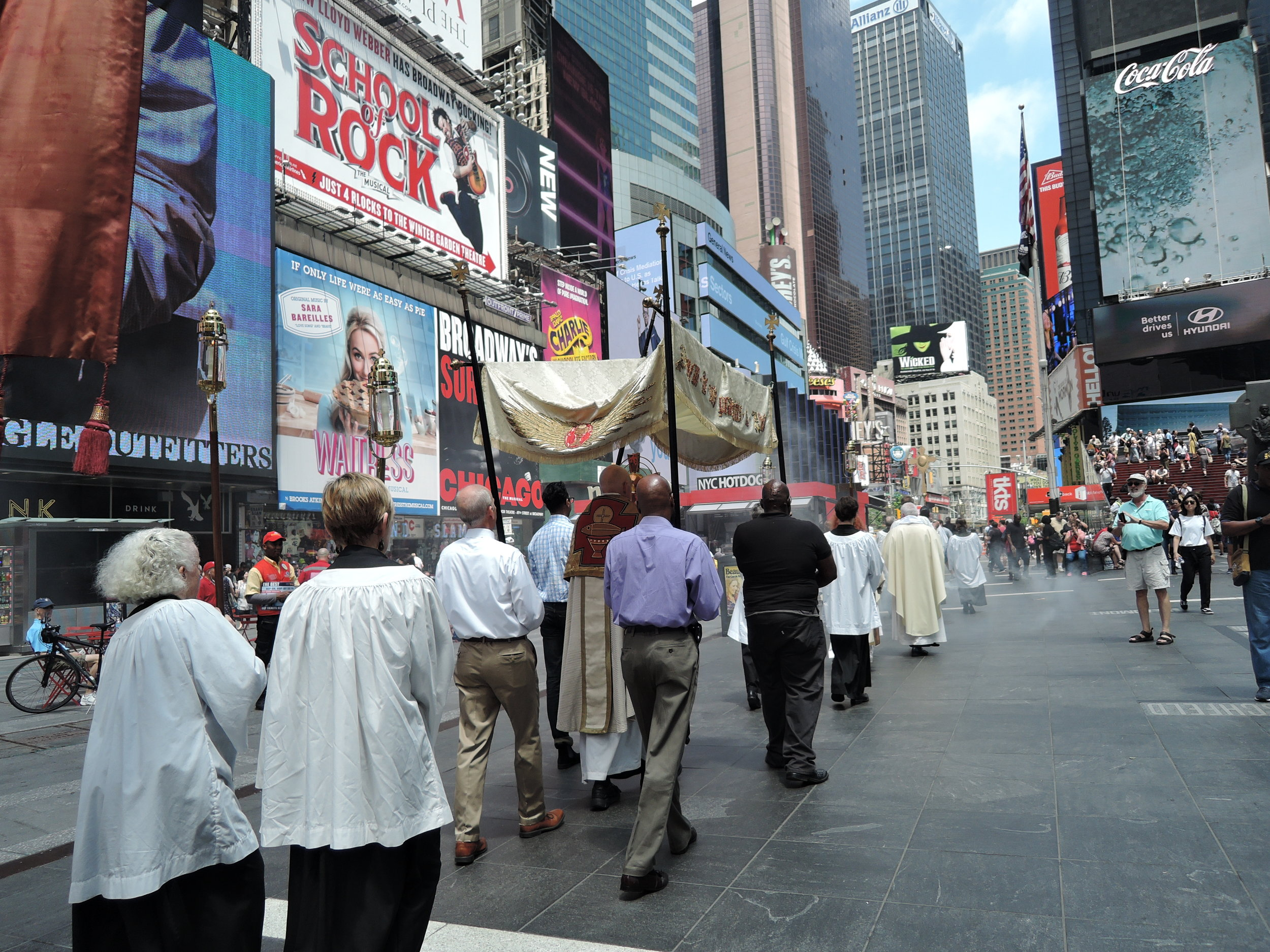 The Procession in Times Square