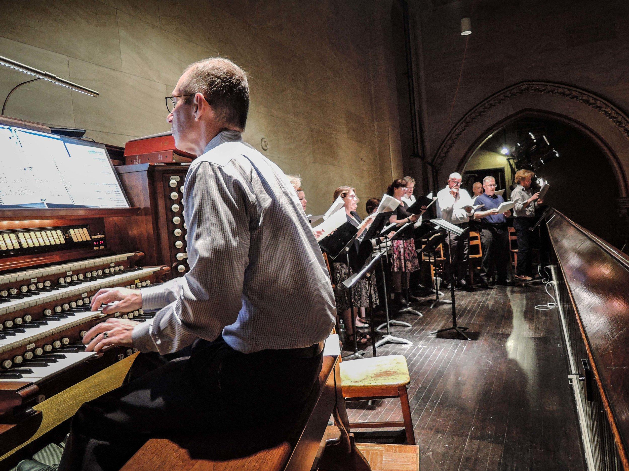 The choir of All Saints' Church, Austin, Texas, sang at the Solemn Mass. Gregory Eaton is organist and choir director.