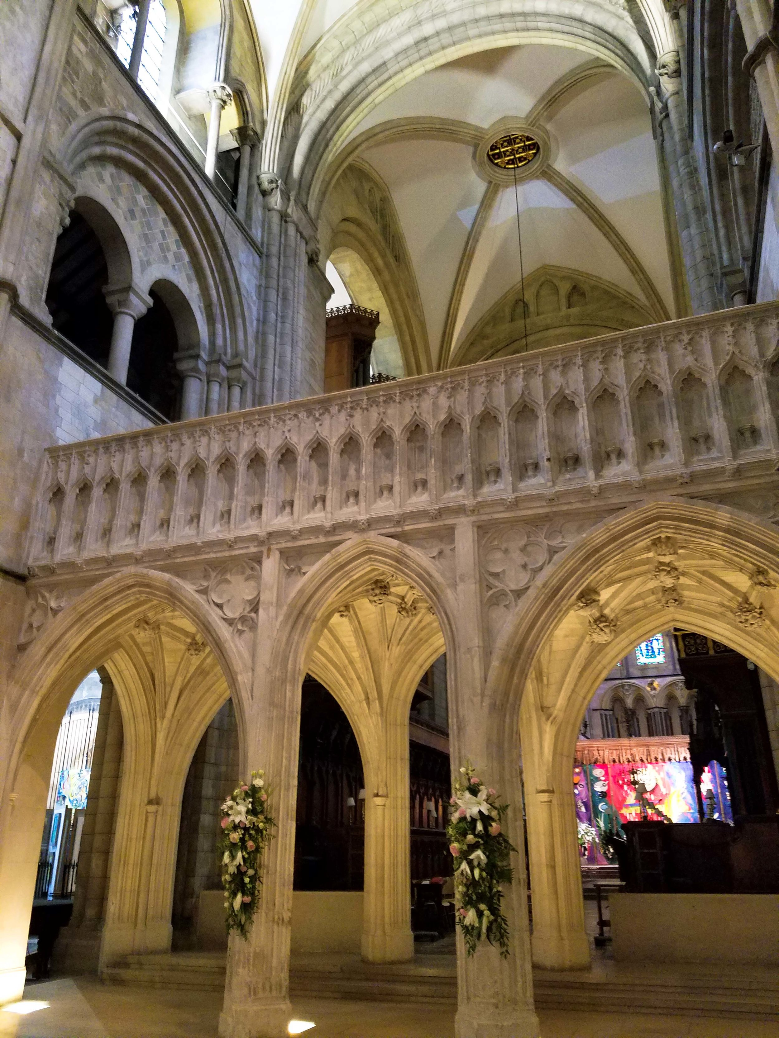 Choir screen at Chichester Cathedral