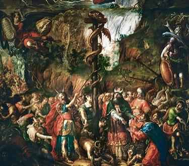 Moses and the Brazen Serpent -  Cristóbal de Villalpando ( c. 1649-1714)
