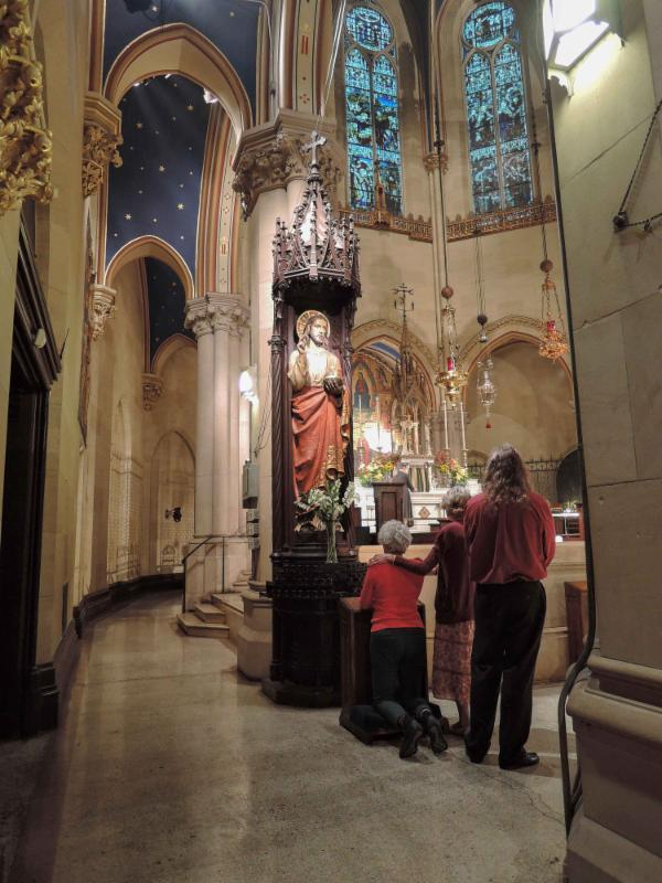 Prayers are offered at the Shrine of     Christ the King.