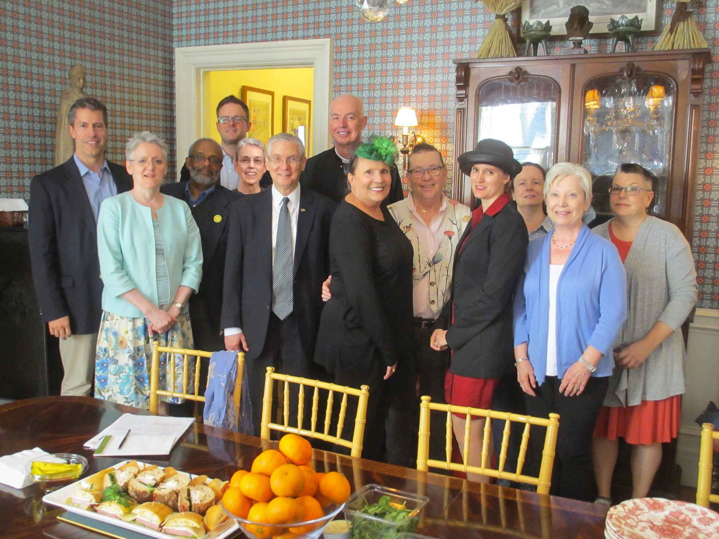 Capital Campaign Team meeting in the rectory on Sunday, September 10, after Solemn Mass.