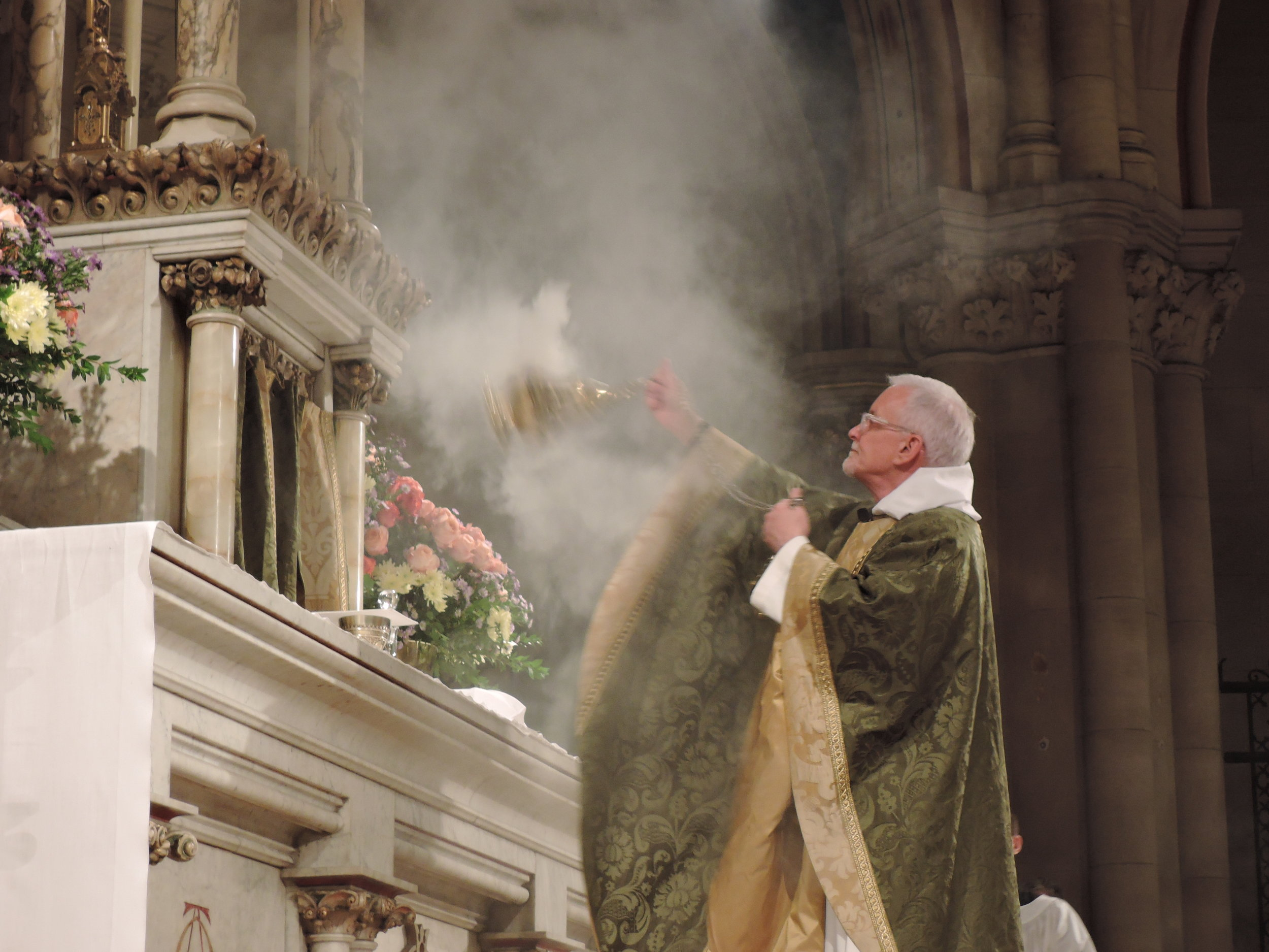 Father Jim Pace was celebrant and preacher for the Solemn Mass last Sunday.