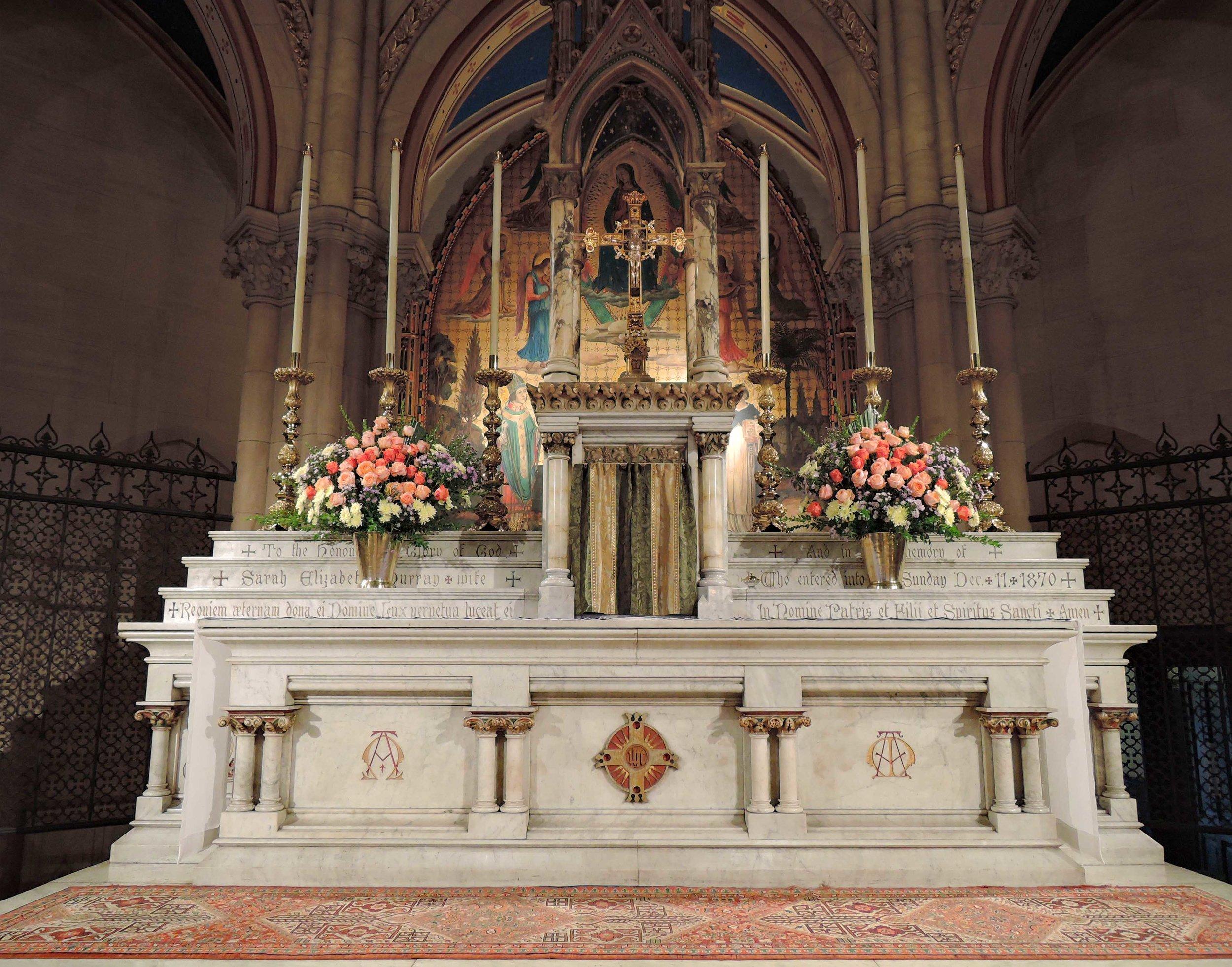 The high altar, Sunday, September 17, 2017.
