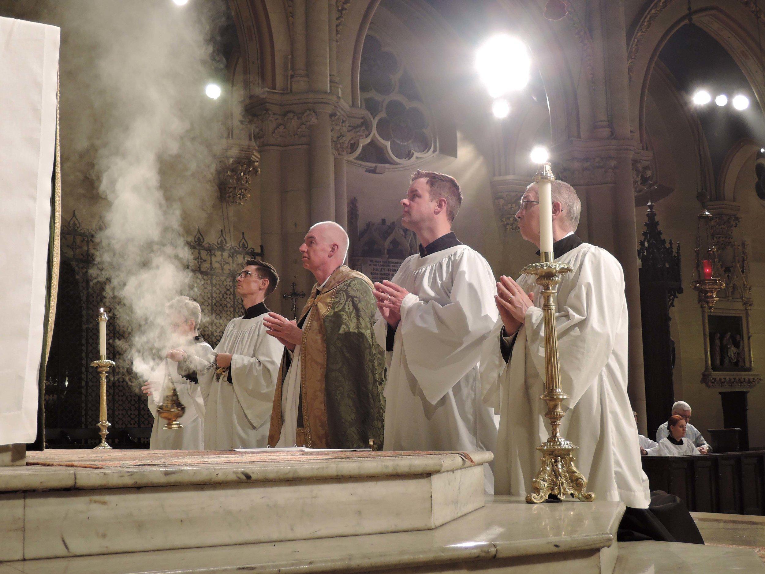 At Eucharistic Benediction on Sunday, October 1