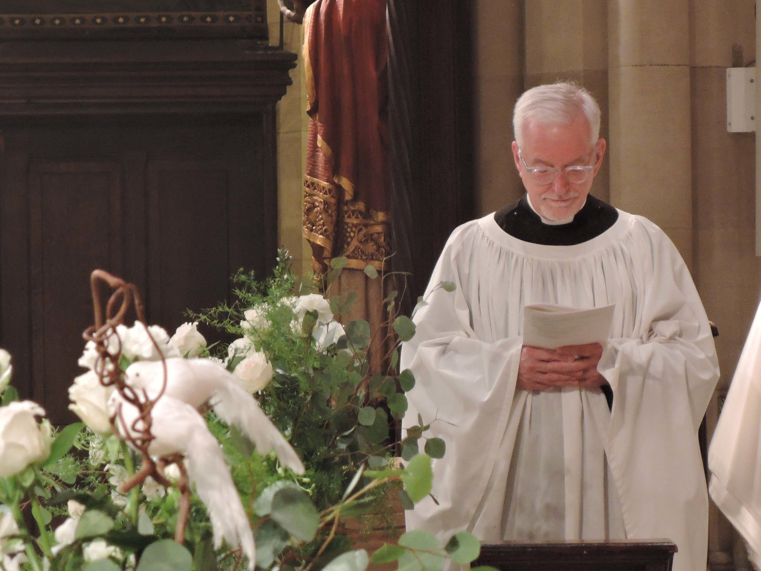 Father Jim Pace at Evensong last Sunday