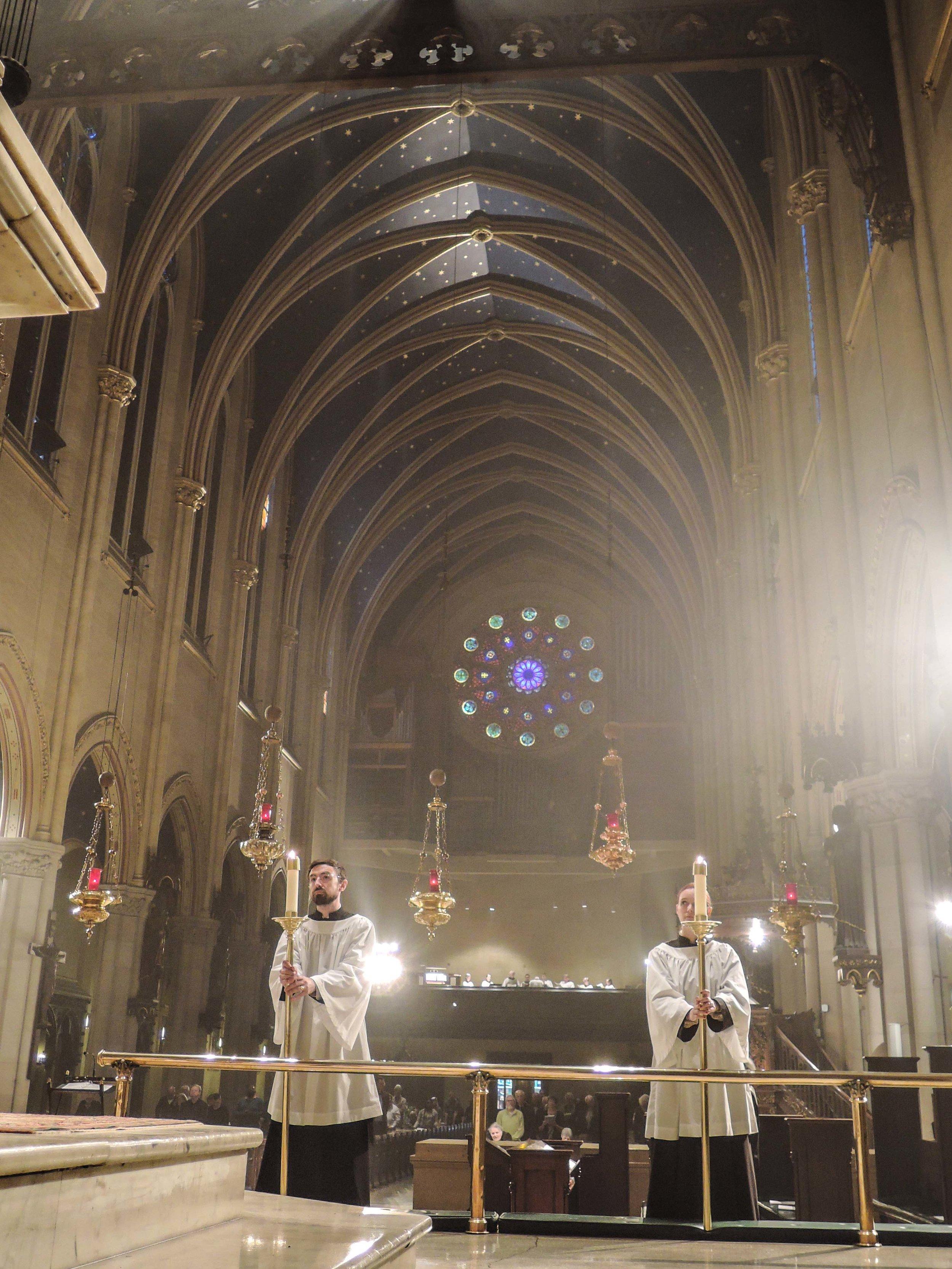 At Solemn Mass